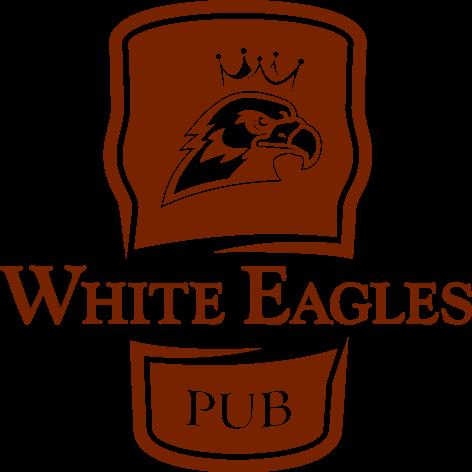 White Eagles Pub logo brown